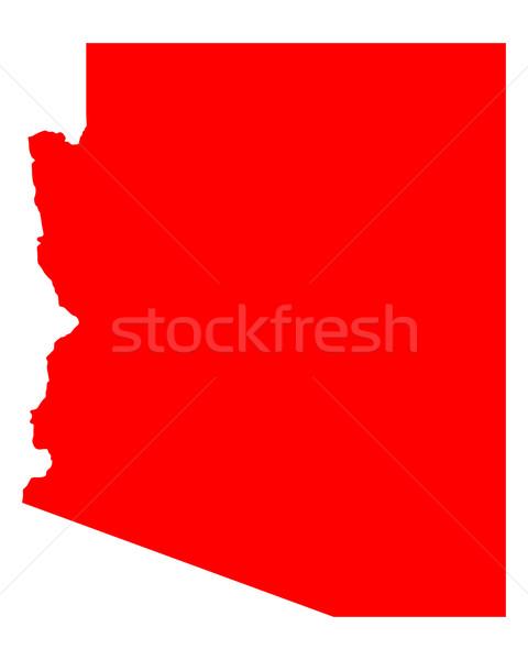Kaart Arizona reizen Rood amerika USA Stockfoto © rbiedermann