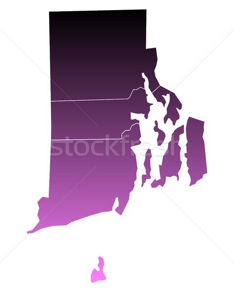Mapa ilha rosa eua vetor isolado Foto stock © rbiedermann
