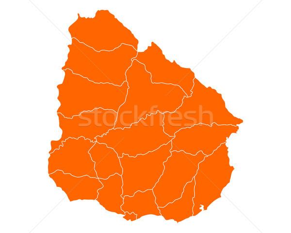 Térkép Uruguay vektor izolált illusztráció földrajz Stock fotó © rbiedermann