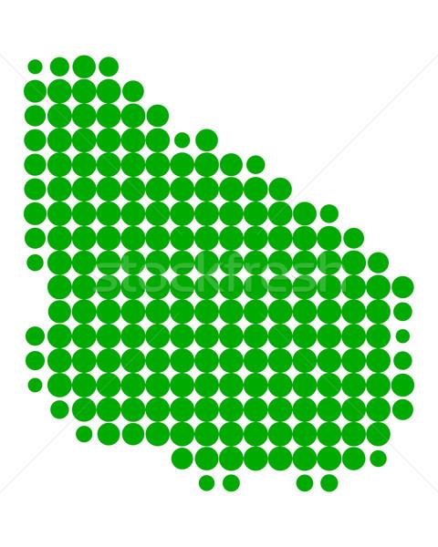 карта Уругвай зеленый шаблон круга Сток-фото © rbiedermann