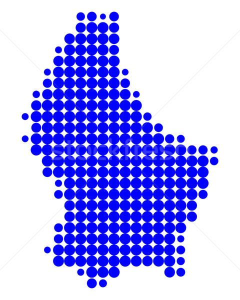 Kaart Luxemburg Blauw patroon cirkel Stockfoto © rbiedermann