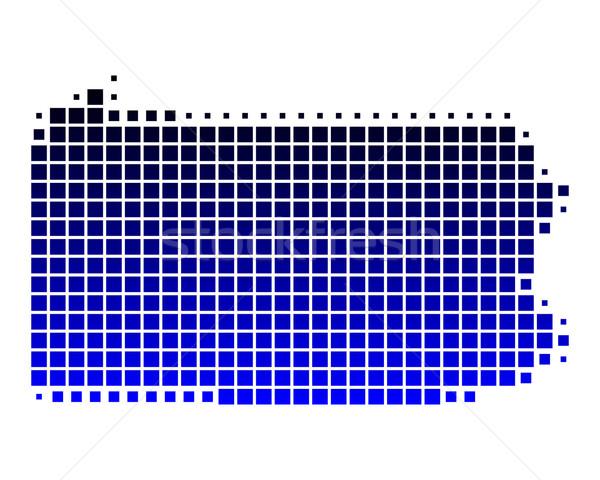 Mappa Pennsylvania blu pattern america piazza Foto d'archivio © rbiedermann