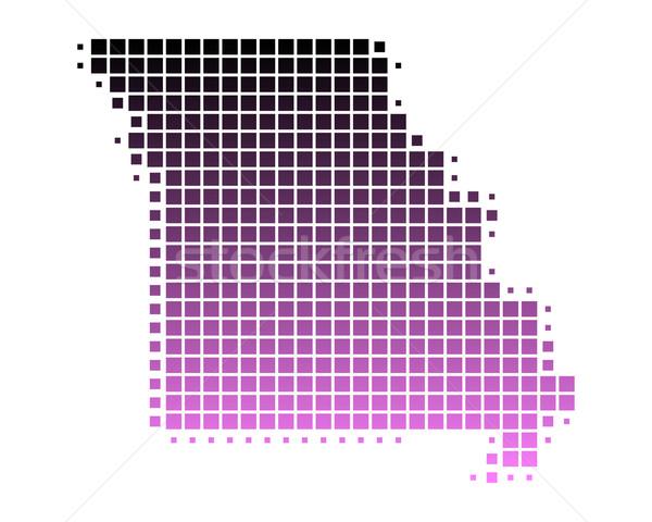 Mapa Misuri patrón rosa América cuadrados Foto stock © rbiedermann