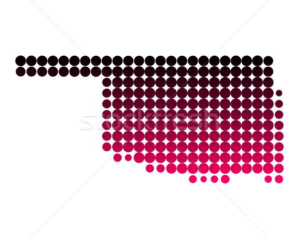Mapa Oklahoma padrão américa roxo círculo Foto stock © rbiedermann