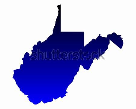 Mapa Virginia azul viaje América EUA Foto stock © rbiedermann