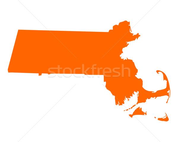 карта Массачусетс путешествия Америки США изолированный Сток-фото © rbiedermann