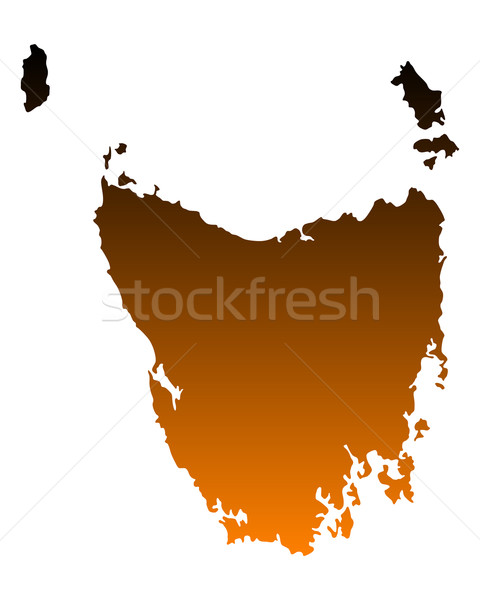 Harita tazmanya vektör Avustralya yalıtılmış örnek Stok fotoğraf © rbiedermann