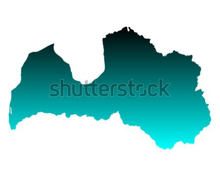 Kaart Letland Blauw vector geïsoleerd Stockfoto © rbiedermann