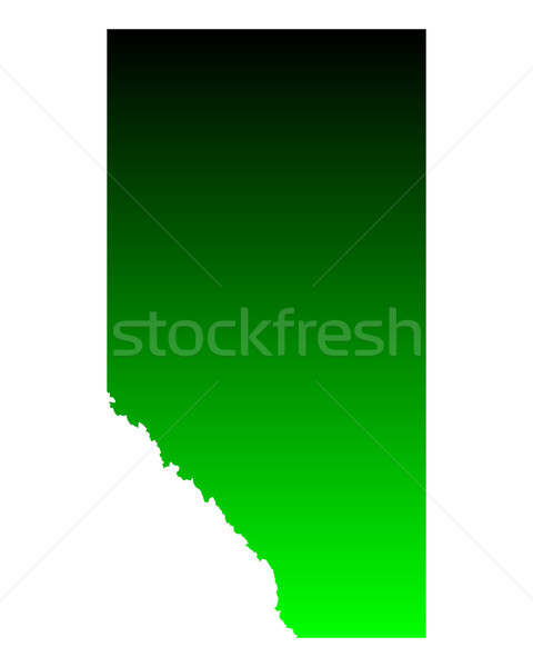 Map of Alberta Stock photo © rbiedermann
