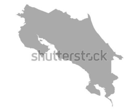 Térkép Costa Rica vektor izolált illusztráció szürke Stock fotó © rbiedermann