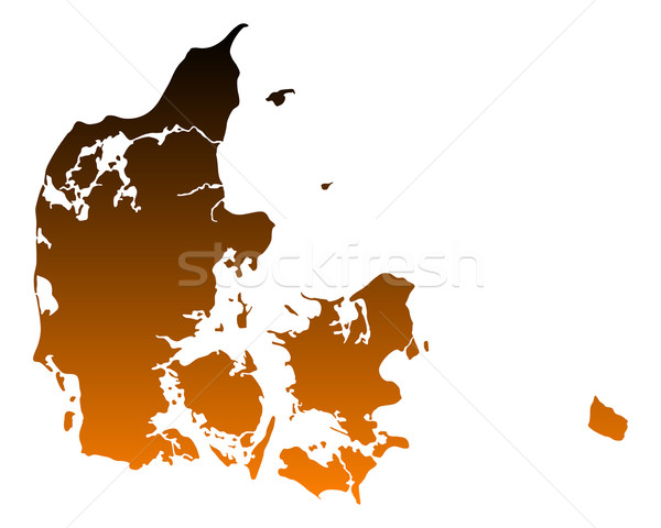 Kaart Denemarken vector geïsoleerd illustratie Stockfoto © rbiedermann