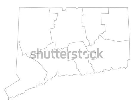 Térkép Nyugat-Virginia háttér fehér vonal USA Stock fotó © rbiedermann