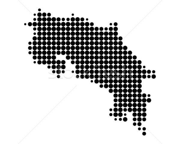 Map of Costa Rica Stock photo © rbiedermann