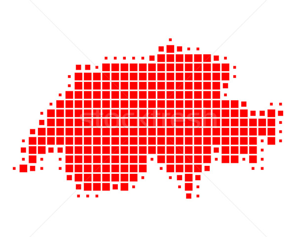 Map of Switzerland Stock photo © rbiedermann