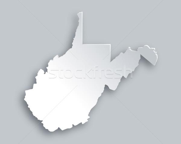 Térkép Nyugat-Virginia papír háttér utazás kártya Stock fotó © rbiedermann