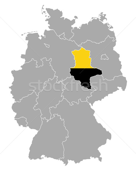 Map of Germany with flag of Saxony-Anhalt Stock photo © rbiedermann