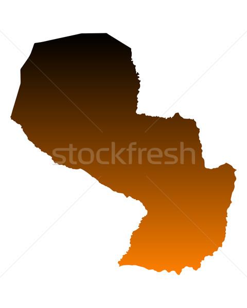 Térkép Paraguay vektor izolált illusztráció Stock fotó © rbiedermann