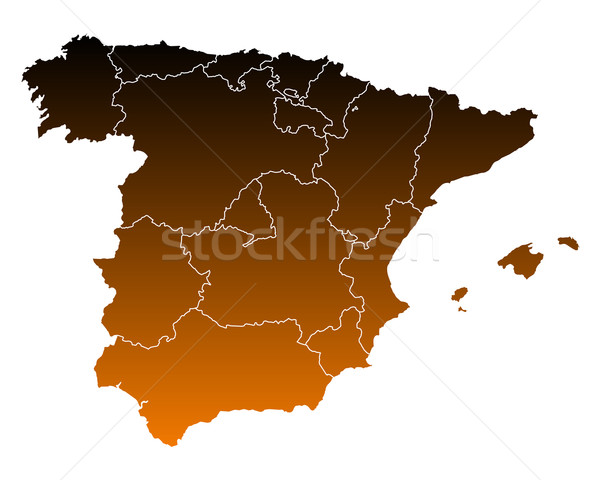 Map of Spain Stock photo © rbiedermann