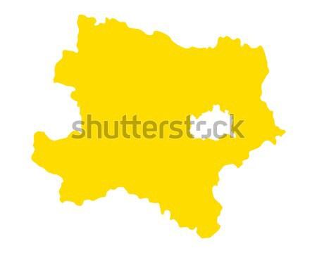 Térkép alsó Ausztria vektor izolált Stock fotó © rbiedermann