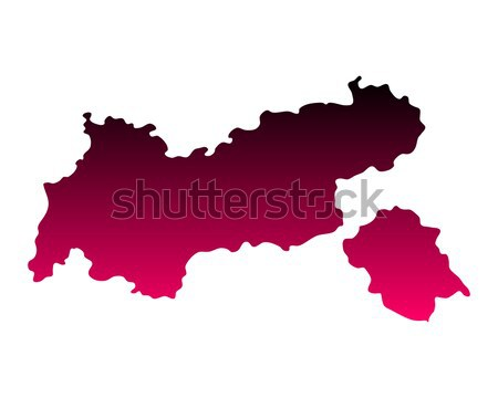 Map of Tyrol Stock photo © rbiedermann