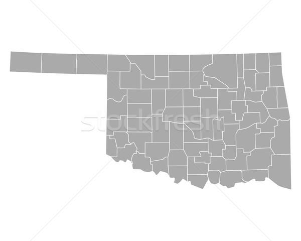 Térkép Oklahoma háttér vonal vektor illusztráció Stock fotó © rbiedermann