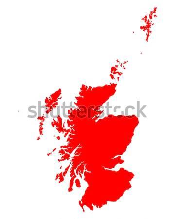 Kaart Schotland achtergrond lijn Stockfoto © rbiedermann