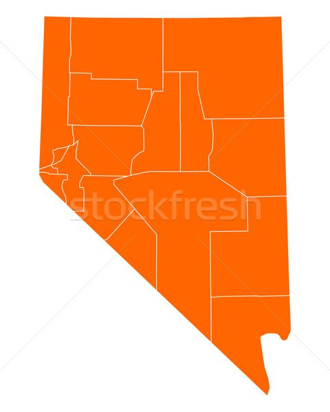 地図 ネバダ州 旅行 米国 孤立した 実例 ストックフォト © rbiedermann
