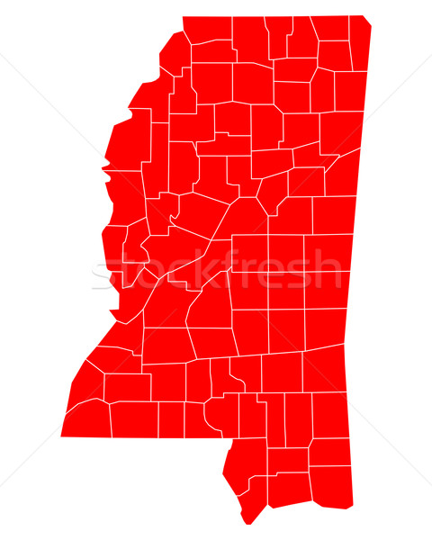 Harita Mississipi seyahat kırmızı ABD yalıtılmış Stok fotoğraf © rbiedermann