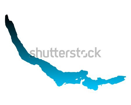 Map of Lake Zurich Stock photo © rbiedermann