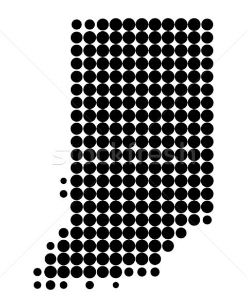 Mapa Indiana preto padrão américa círculo Foto stock © rbiedermann