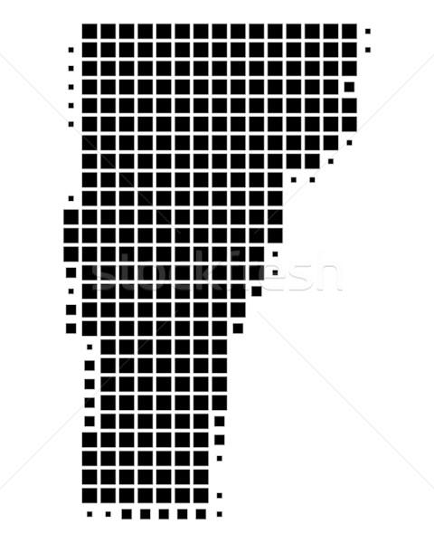 Mapa Vermont preto padrão américa EUA Foto stock © rbiedermann