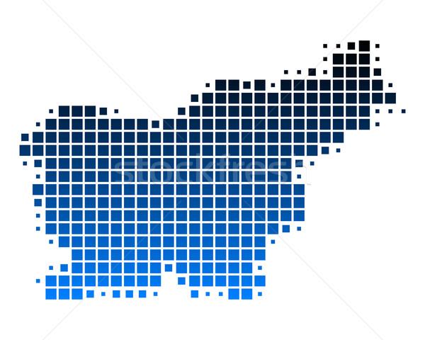Mapa Eslovenia fondo cuadrados punto ilustración Foto stock © rbiedermann