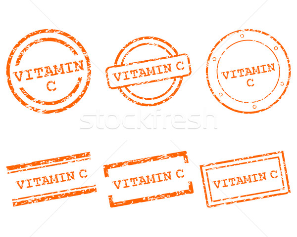 Vitamine c timbres santé tampon graphique vente Photo stock © rbiedermann