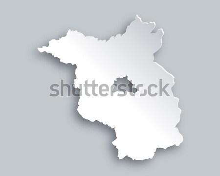 Map of Brandenburg Stock photo © rbiedermann