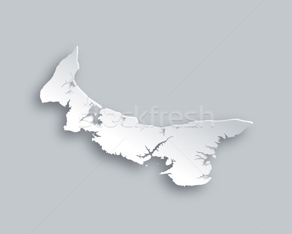 Mapa isla del príncipe eduardo papel fondo viaje tarjeta Foto stock © rbiedermann