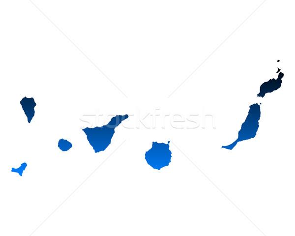 карта Канарские острова синий острове вектора Испания Сток-фото © rbiedermann