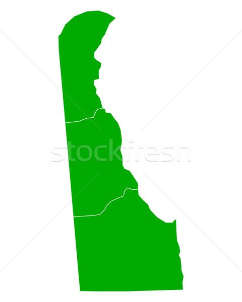 Térkép Delaware háttér zöld vonal vektor Stock fotó © rbiedermann