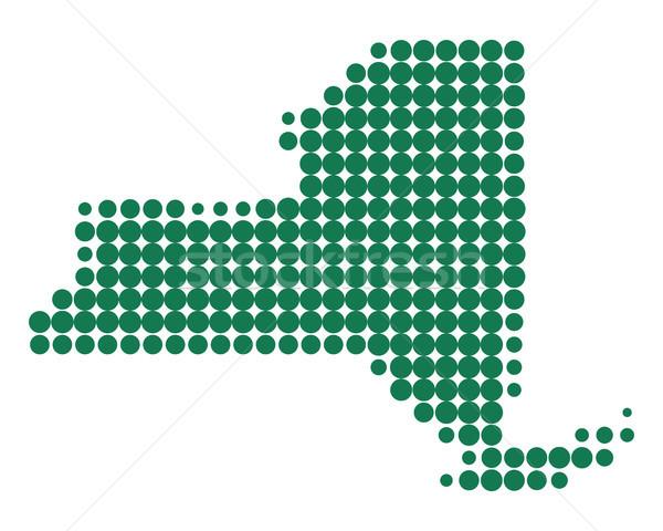 Harita New York yeşil model daire nokta Stok fotoğraf © rbiedermann