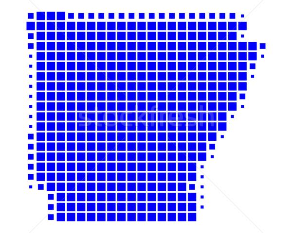 Térkép Arkansas kék minta Amerika tér Stock fotó © rbiedermann