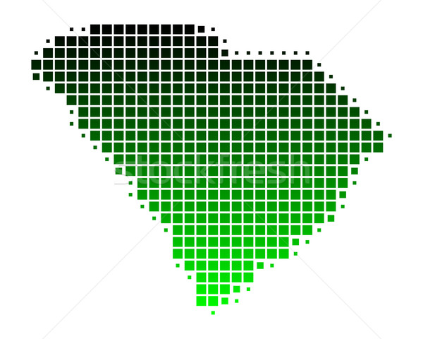 Kaart South Carolina groene patroon amerika vierkante Stockfoto © rbiedermann