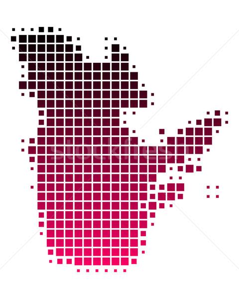Mappa Québec pattern rosa viola piazza Foto d'archivio © rbiedermann