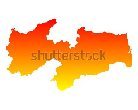 Map of Hesse Stock photo © rbiedermann