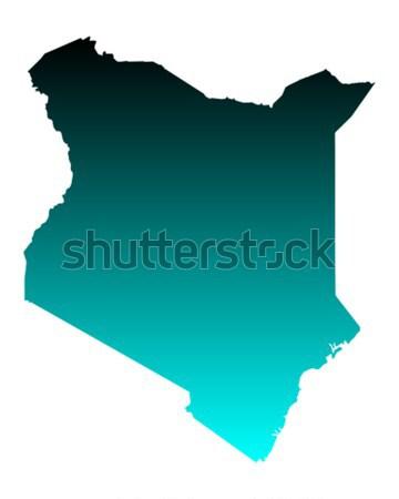 Térkép Kenya zöld kék utazás vektor Stock fotó © rbiedermann