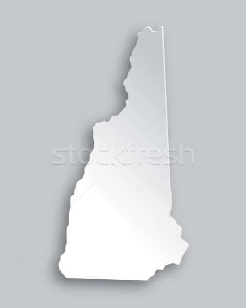 Kaart New Hampshire papier achtergrond reizen kaart Stockfoto © rbiedermann