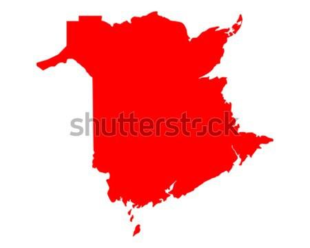 Map of New Brunswick Stock photo © rbiedermann