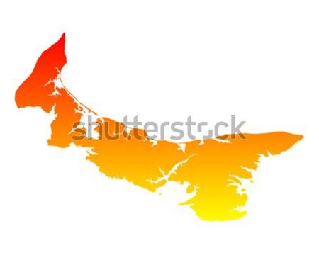 Map of Nova Scotia Stock photo © rbiedermann
