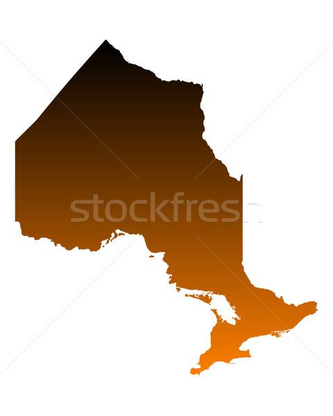 карта Онтарио вектора Канада изолированный иллюстрация Сток-фото © rbiedermann
