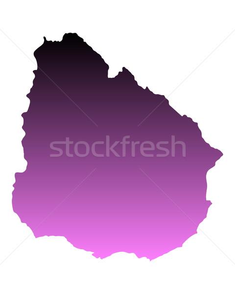 地図 ウルグアイ ピンク ベクトル 孤立した ストックフォト © rbiedermann