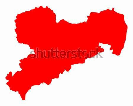 Térkép Peru piros vektor izolált Stock fotó © rbiedermann