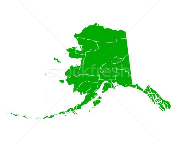 地図 アラスカ州 背景 緑 行 ベクトル ストックフォト © rbiedermann